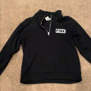 PINK quarter zip up